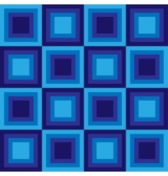 Squares floor seamless pattern blue colors vector
