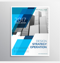 Stylish blue brochure template design vector