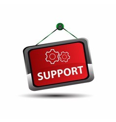 Support sign label vector