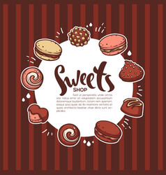 Sweets shop background for your confectionery vector