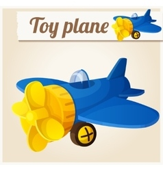 Toy plane cartoon vector