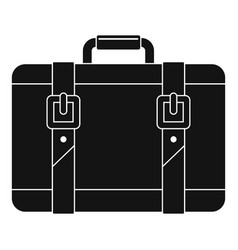 trip leather bag icon simple style vector image