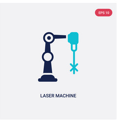 two color laser machine icon from electronic vector image