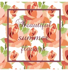 Watercolor Red Roses Card background vector image