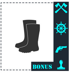 waterproof shoes icon flat vector image