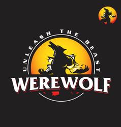 werewolf logo vector image