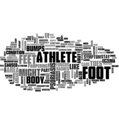 What does athletes foot look like text word cloud vector