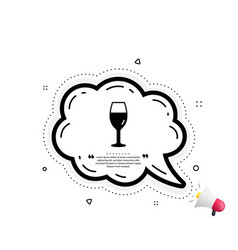 wine glass icon burgundy glass sign vector image