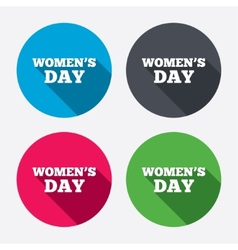 Womens Day sign icon Holiday symbol vector image