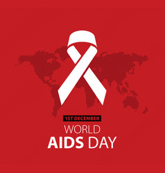 World aids day poster layout design vector