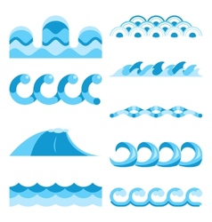 Blue waves elements vector image vector image