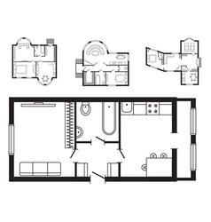 modern office architectural plan interior vector image