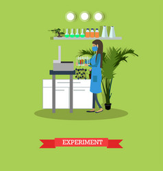 Scientific experiment flat style vector