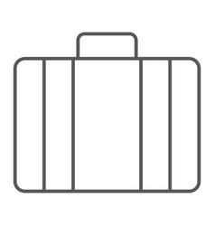 baggage thin line icon briedfcase and luggage vector image