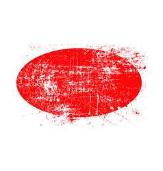 red ellipse grunge stamp with blank siolated on vector image