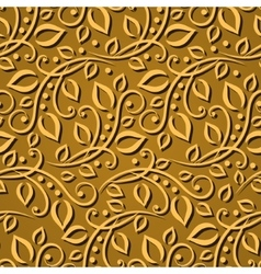 Seamless pattern gold leaves Elegant texture for vector image vector image
