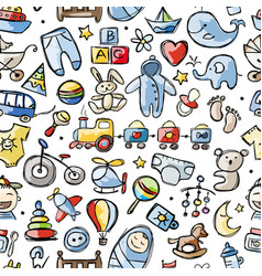 toys for baby boy seamless pattern design vector image