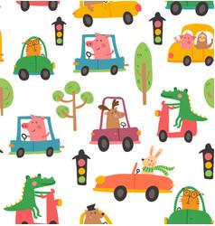 animal car pattern vector image