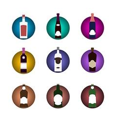 Bottle icon set vector image