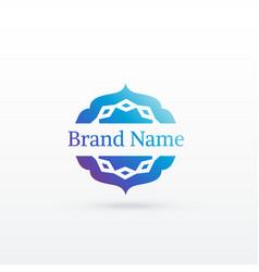 clean arabic style logo design template vector image