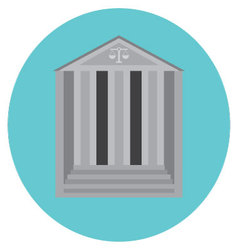 Courthouse concept icon vector image vector image