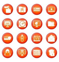 Criminal icons set vector image vector image