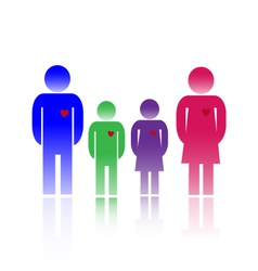 Family colors vector image