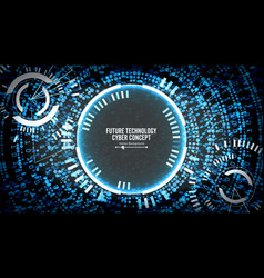 future technology cyber concept background vector image vector image