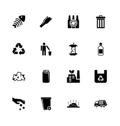 garbage - flat icons vector image vector image