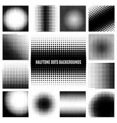 Halftone dots backgrounds vector image