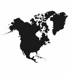 north america map monochrome north america icon vector image vector image