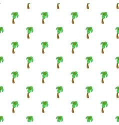Palm tree pattern cartoon style vector