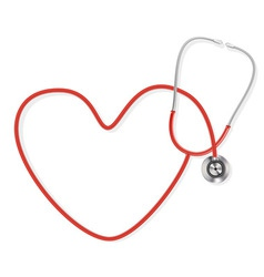 stethoscope making a heart shape vector image