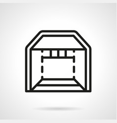 Trade booth simple line icon vector