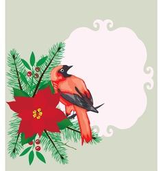 bird frame Christmas vector image