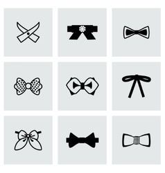 Bow ties icon set vector image