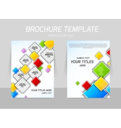 colorful squares flyer template vector image vector image