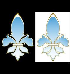 heraldic lily vector image