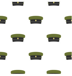 military hat pattern flat vector image