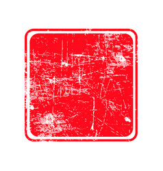red square grunge stamp with blank siolated on vector image