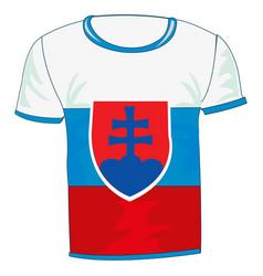 T-shirt sign slovakia vector