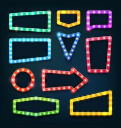 vintage movie theater light signs vegas casino vector image