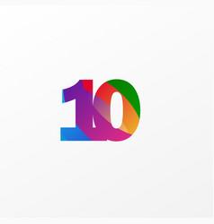 10 years anniversary celebration elegant color vector