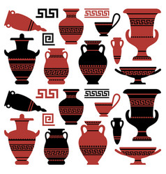 antique vases and vessels vector image