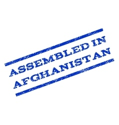Assembled In Afghanistan Watermark Stamp vector