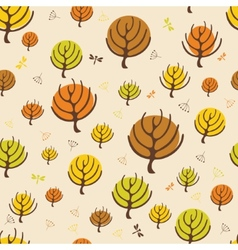 Autumn trees pattern for design wrapping paper vector image