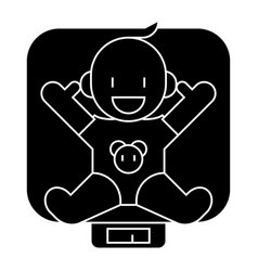 baby on scales icon sign o vector image