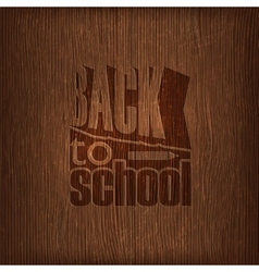 back to school retro design on wooden background vector image