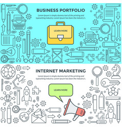 banners for internet marketing and business vector image