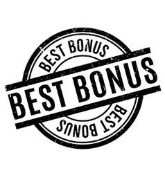 Best Bonus rubber stamp vector image